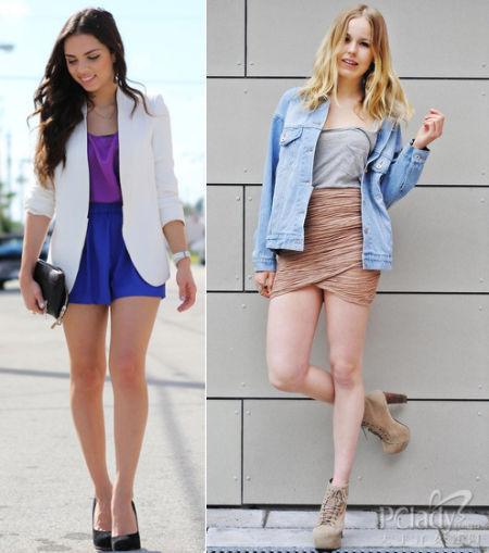 外套和短裤/裙的搭配