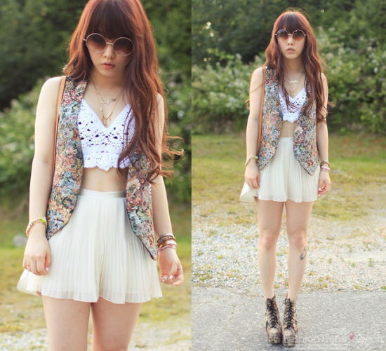 夏日街头清凉无袖衫时尚潮人纷纷穿上身