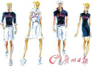 美国队的队服设计图