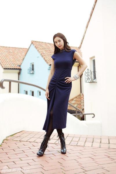 组图:韩国演员金有美秋装写真清新时尚洋气十足