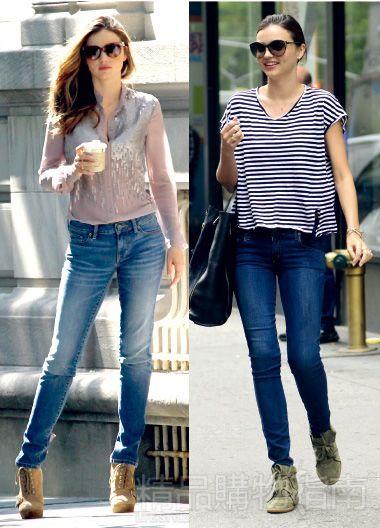 skinny牛仔裤