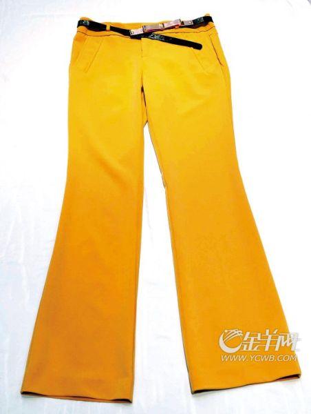 Veromoda芒果色  阔腿长裤  亮色阔腿裤,为你在旅途中增加优雅美态。