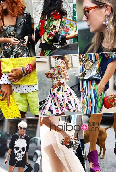 组图:时尚达人秀场外街拍谁才是街拍抢镜利器