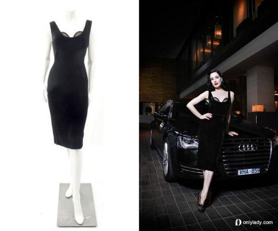 Dita Von Teese 低胸修身连衣裙