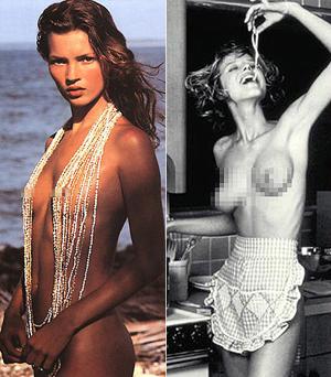 为时尚年历宽衣的性感美人们