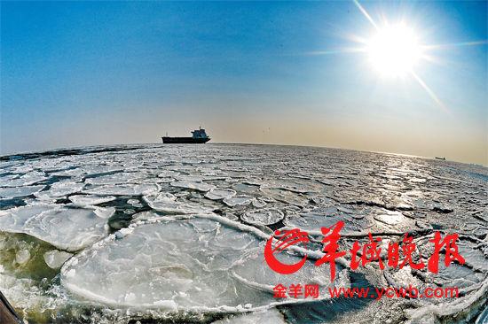 寒潮发力西湖结冰