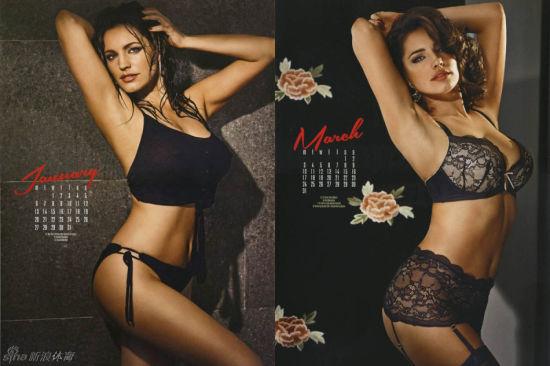 英国美胸女神凯莉-布鲁克2014年性感年历