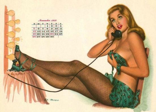 经典记忆:1950年美女挂历回顾