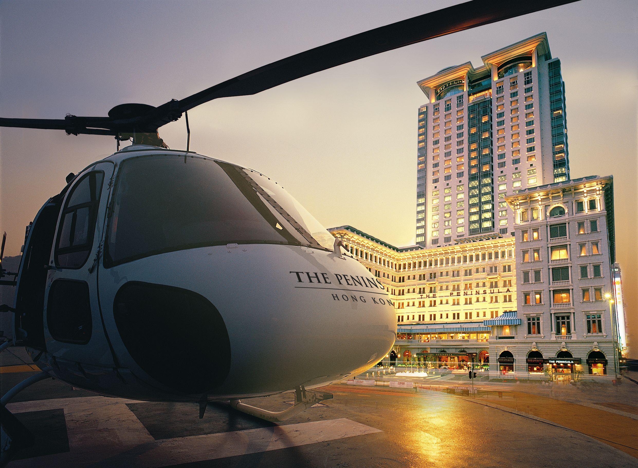 半岛酒店直升机维港空中之旅