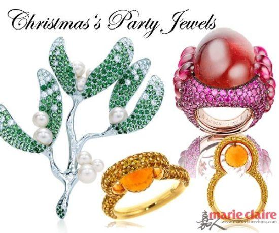 彩色是王道圣诞节的派对珠宝