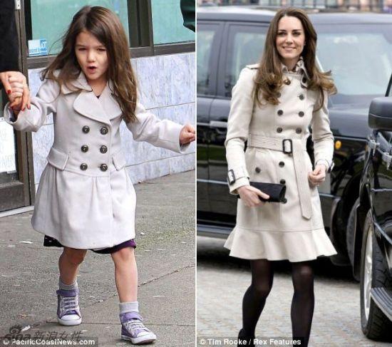 凯特王妃与阿汤哥千金的时尚品位太相似