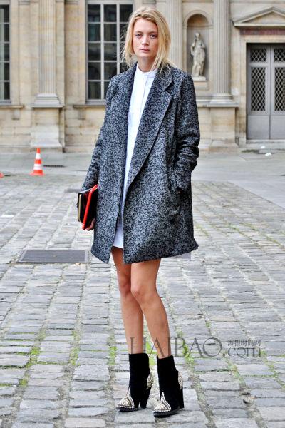 街拍最IN冬装外套中短款式更有型