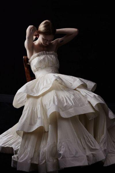 LanvinBlanche2014婚纱系列打造优雅新娘