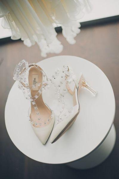 浪漫红毯Valentino仙气十足新娘鞋