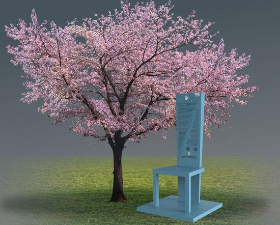 问:公益项目为什么以樱花作为创作主题?   刘阳:很喜欢樱花,喜欢它的绚烂和品性。以前在湖北美院读书,每逢武汉大学樱花开放,我都会去看,几乎每隔一两天就去一次,直到花谢。樱花开花时,是那样竭尽全力、毫无保留,集聚所有的能量于花,隐去叶的挂碍,只为那一刻的全情绽放!它每一朵都不突兀,聚在一起却绚烂如云,这种凝聚力量,令人惊叹,也发人深省。它的绚烂是倾其所有换来的,这种令人动容的品质是弥足珍贵的。每每看到,总会沉浸在那花舞满天的情境中,细心体会它的品性。但这愉悦的心绪又总会不期然地被一些抵触和抗拒打扰,我