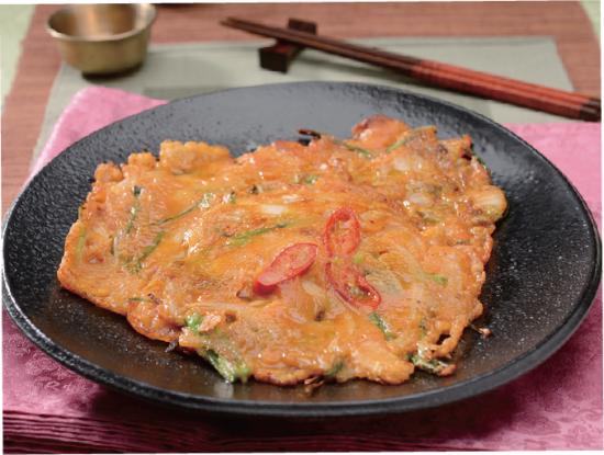韩式传统料理:泡菜饼