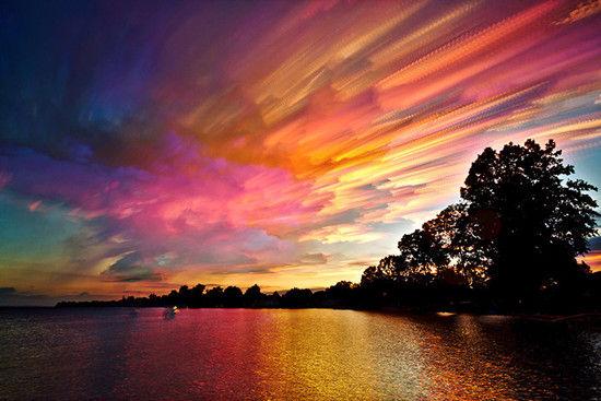油画般绚彩天空