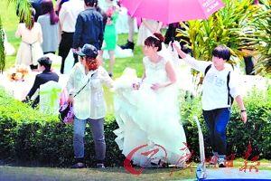 姚笛被爆在深圳拍戏。
