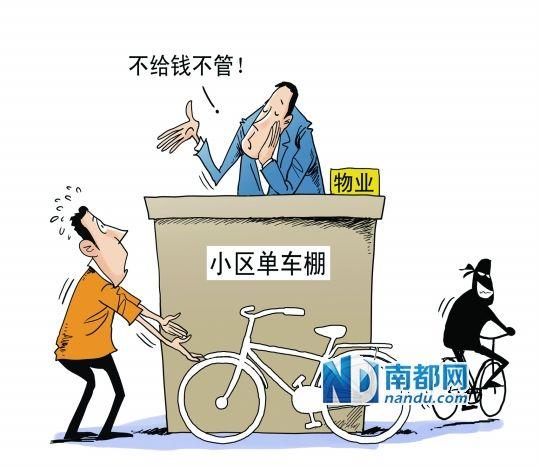 居民在小区丢了单车 物管该不该赔偿