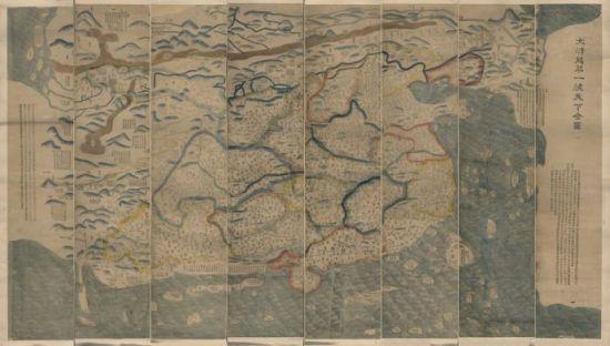 资料图:1811年(清嘉庆16年)绘制的《大清万年一统天下全图》。