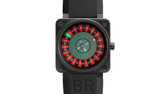 柏莱士微型赌场旋转轮盘腕表