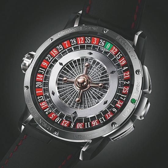 Christophe Claret所推出的21 Blackjack背面
