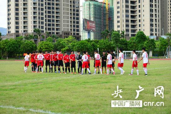 粤港澳高中足球赛在石楼举行|老师|高中|珠海_足球高中珠海射脸上到图片