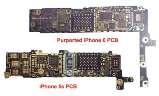 新浪手机讯 7月28日上午消息,外媒近日曝光了一组疑似iPhone 6逻辑板的照片,并给出消息称iPhone 6将加入NFC近场通讯以及802.11ac无线标准。   法国网站Nowhereelse.fr近日曝光了一组疑似iPhone 6逻辑板的照片,并指出iPhone 6将会支持NFC近场通讯以及802.11ac WiFi无线标准。目前通过泄露的图片,我们并无法确认这两点,不过NFC可以说是期盼已久,而802.