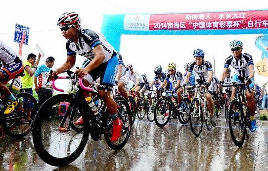他们在海寿岛试骑行时