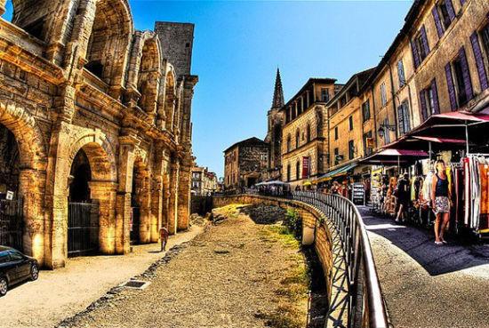 法国玫瑰古城风景图片