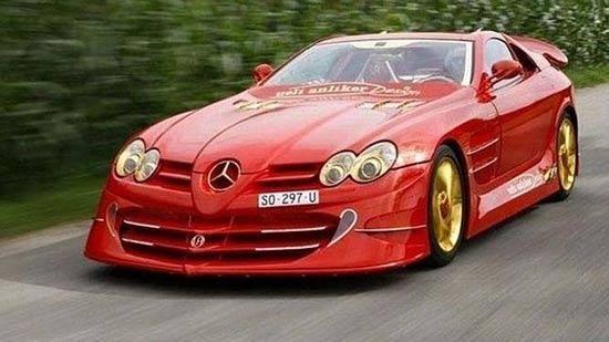 """瑞士富豪花350万英镑改装出""""土豪车"""",金光闪闪被批丑陋。"""