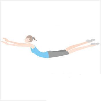 这个方法除了锻炼臀部肌肉外,还可以锻炼背部,大腿内侧肌肉.