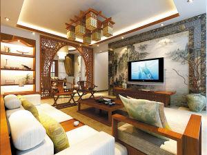 书香气息新中式风格 优雅高贵的四房两厅图片