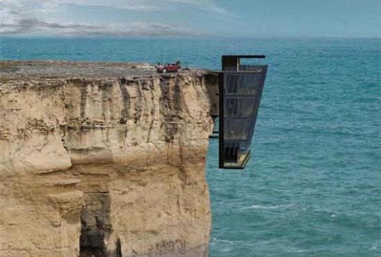 """建筑师们设计出""""悬崖居""""生活在刺激中"""