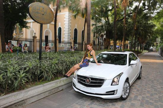 本次活动的主角凯迪拉克ats-l搭配专业车模