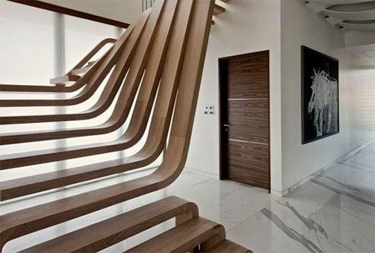 步步高升的节奏:创意楼梯让你的家更美丽