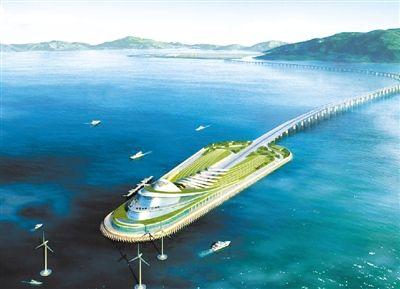 港珠澳大桥东人工岛将建1600米环岛观光步道
