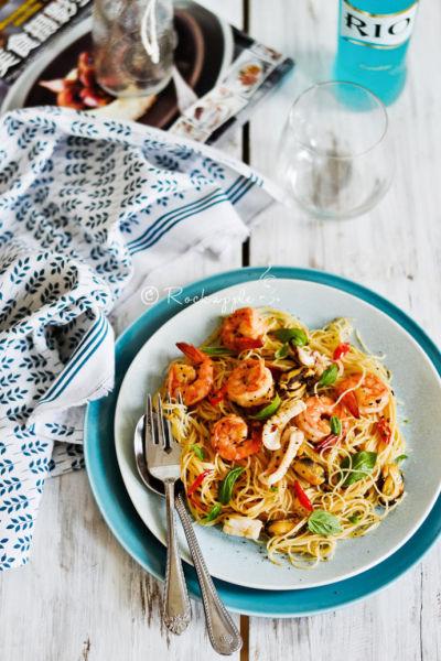 海鲜意大利面 适合上班族忙里偷闲的惬意午餐
