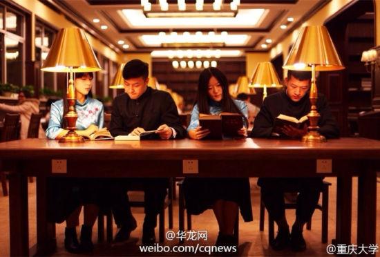 """重庆大学""""民国风图书馆""""走红引围观"""