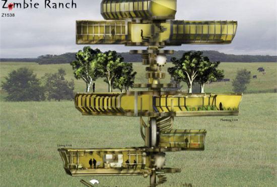 另类僵尸农场设计:实现僵尸发电食物自给
