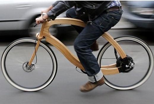德国设计师发明木质纯电动自行车