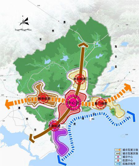 深汕特别合作区城市城市空间结构图