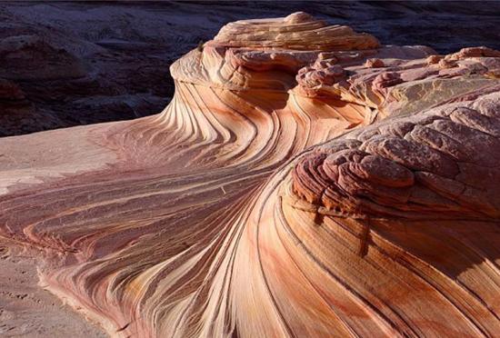 实拍美国红崖石浪奇景神奇地貌如火星