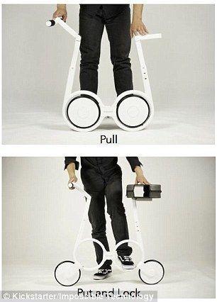展开这辆碳纤维自行车需要4个步骤.