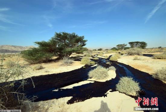 以色列红海旅游胜地发生石油管道破裂事故