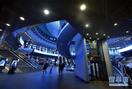 美国纽约市新建最大的地铁换乘枢纽