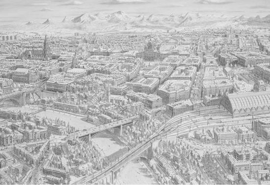 据英国《每日邮报》12月16日报道,来自荷兰的插画师史蒂芬,不仅画技出众,而且记忆力惊人。他擅长绘制极其细腻的城市风景,细致到街角的垃圾箱,每一幅绘制通常长达几周甚至半年。令人惊奇的是,他并不需要像其他的画家一样对着风景作画,只要他去一个城市游历一番,就能清楚记下这个城市的面貌,简直可以达到丝毫不差的地步。画面上就是他描绘的纽约城。(网页截图) 荷兰画家凭记忆绘画城市风景