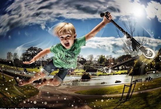 """英国摄影师为儿童拍摄""""魔法照片"""""""