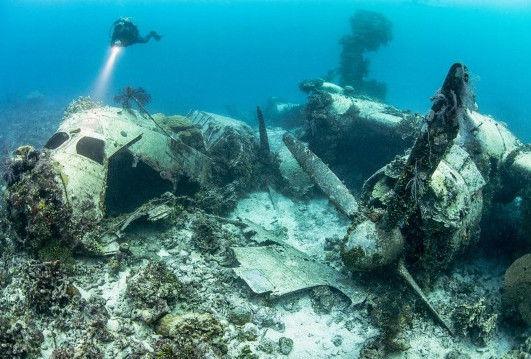 """""""幽灵墓地""""数十艘日本战舰长眠海底"""