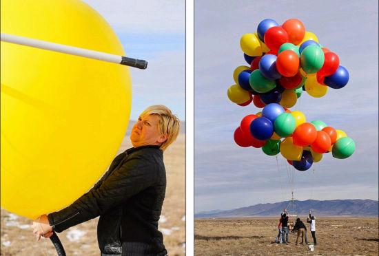 飞屋环游美冒险家用氢气球升空2400米